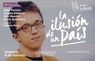 Iñigo Errejón presenta la candidatura Recuperar la Ilusión en Valencia