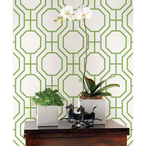 H Circuit Green Modern Ironwork Wallpaper Sample