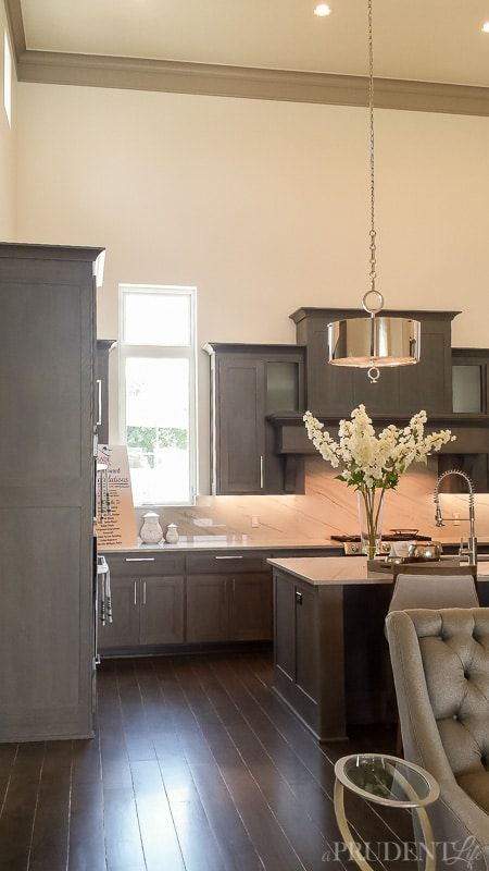 More Design Inspiration From The Tulsa Parade Of Homes Day 2 A Prudent Life Parade Of Homes Home Grey Kitchen Cabinets