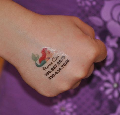 Child+Safety+I.D.+Personalized+Temporary+Tattoo++by+adivineevent