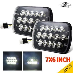 2pcs 7x6 Led Headlight Square Bulb Hi Low Sealed Beam For Chevy