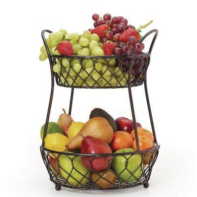 Lattice Countertop Fruit Basket Tiered Fruit Basket Kitchen