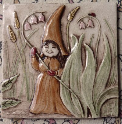 Decorative Relief Tiles Classy Women Gnomes  Decorative Relief Carved Ceramic Gnome Woman Tile Review