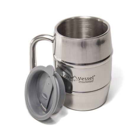 Eco Vessel Double Barrel Insulated BeerCoffee Mug | Eco