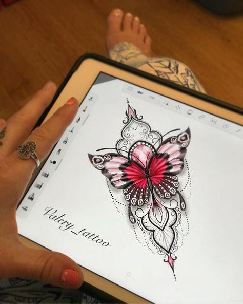#butterflytattoo #ornementaltattoo #femininetattoo #creativedesigntattooshop