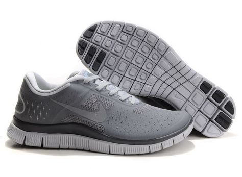 Discount Mens Nike Free 4.0 V2 Grey White Black Running