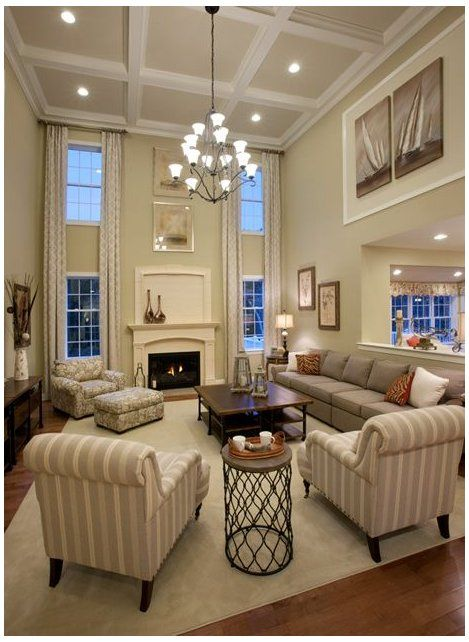 New Homes For Sale In Massachusetts Toll Brothers Large Window Treatments Living Ro In 2020 High Ceiling Living Room Open Living Room Design Elegant Living Room