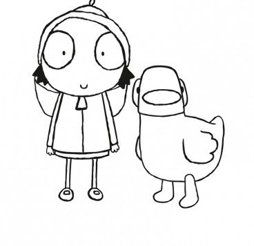 Colour In Sarah And Duck Make And Colour Cbeebies Globalshow Icon Templateshow Icon Templateshow Baby Birthday Party Girl Sarah Duck Paw Patrol Coloring