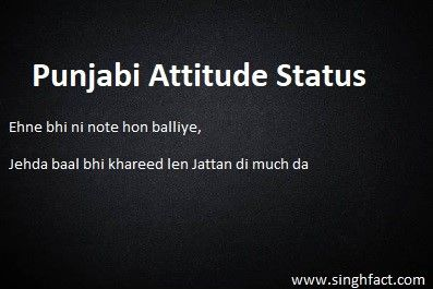 Punjabi Attitude Status Looking For Attitude Status