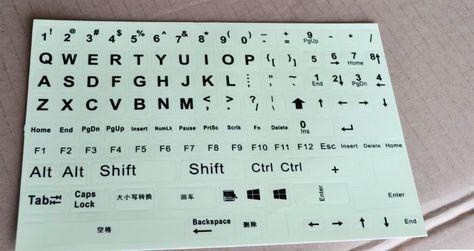 1 unids, fluorescente pegatinas teclado, rusia tailandés alfabeto coreano para todos tipo de teclado, fluorescencia luminosa de diseño, KMC218 en Fundas de Teclado de Ordenadores, periféricos y software en AliExpress.com | Alibaba Group