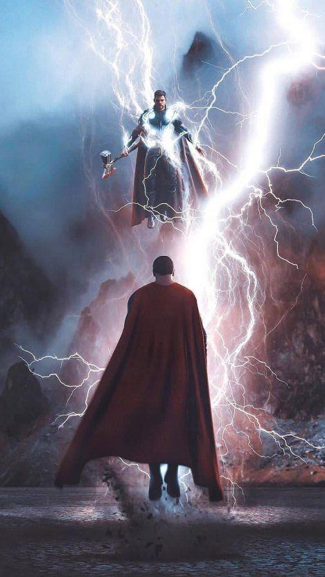 Superman Vs Thor Thor Vs Superman Superhero Wallpaper Movie Wallpapers