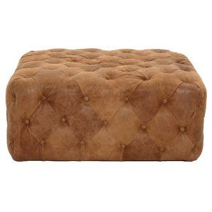 Astounding Patina Brandy Leather Ottoman By Orient Express Furniture Unemploymentrelief Wooden Chair Designs For Living Room Unemploymentrelieforg