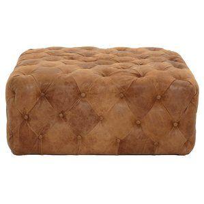 Awe Inspiring Patina Brandy Leather Ottoman By Orient Express Furniture Beatyapartments Chair Design Images Beatyapartmentscom