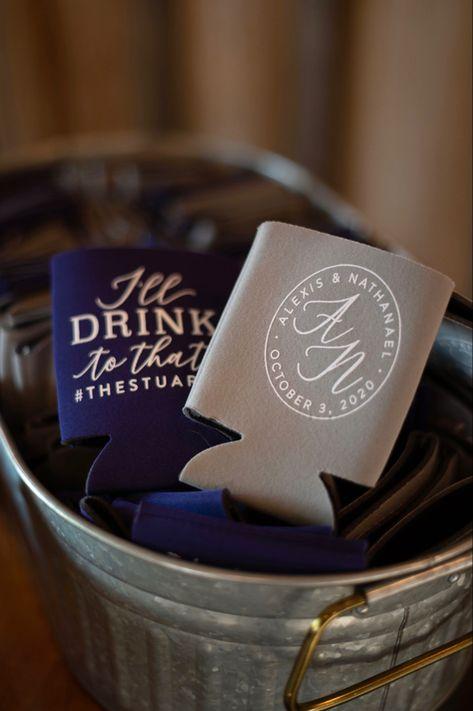 #wedding #plum #purple #blush #ranchwedding #barnwedding #vintage #reception #receptiondecor #weddingdecor #bar #guestfavors #favors #weddingfavors #koozies #weddingkoozies #customkoozies