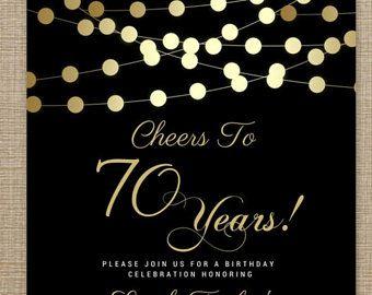 70th birthday invitations any age