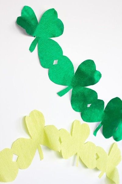 DIY Giant Shamrock Streamers - Easy DIY Decoration Ideas For St. Patrick's Day - Photos