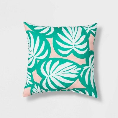16 Palm Leaf Throw Pillow Green Sun Squad Target Green