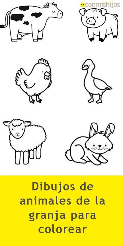 Animales De La Granja Dibujo Para Colorear Animales Salvajes Para Colorear Animales Para Imprimir Animales Animados Para Colorear