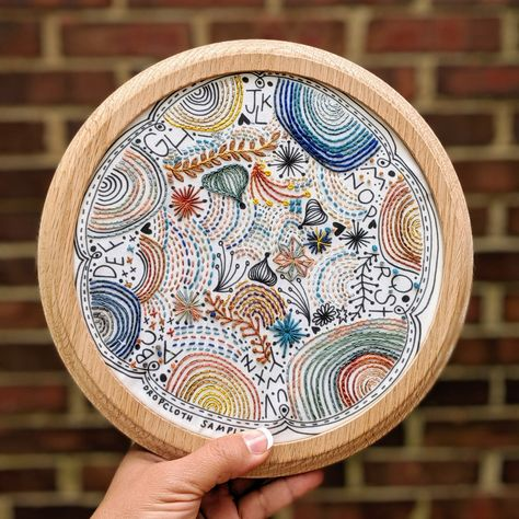 Dropcloth Embroidery Samplers :: Disco Nap Sampler