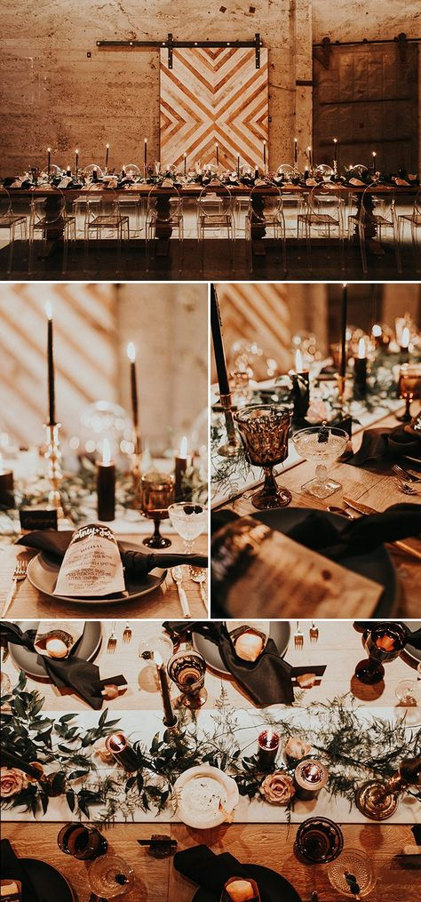 The reception is warm, intimate, and modern at this Luce Loft wedding. Jessie Schultz Photography captured the the vibe and details of the night.