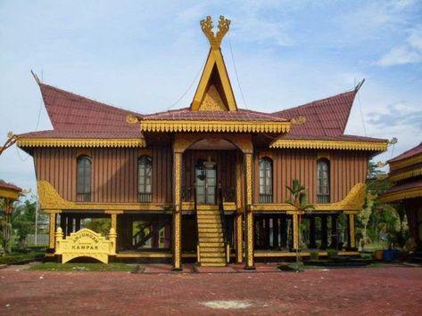 30 Gambar Kartun Rumah Adat Sumatera Selatan Di 2020 Arsitektur Vernakular Arsitektur Masjid Home Fashion