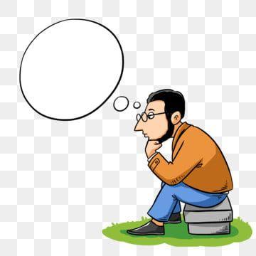 Gambar Tangan Kartun Yang Dilukis Tangan Lelaki Berfikir Dialog Buih Lelaki Clipart Berfikir Berfikir Secara Serius Png Dan Psd Untuk Muat Turun Percuma Cartoon Clip Art Cartoon Eyes Clip Art