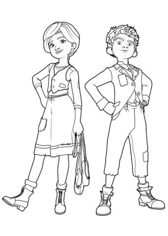 Felicie And Victor From Leap Coloring Page Ballerina Coloring