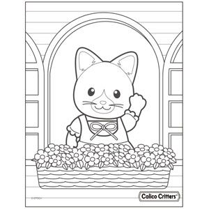 Coloring Calico Critters In 2020 Family Coloring Pages Coloring Pages For Kids Family Coloring