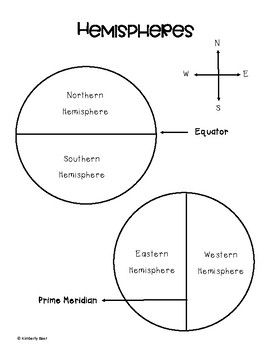 I Needed A Visual For My Students To Understand The Northern And Southern Hemispheres Divided By The Equator Hemisphere Equator And Prime Meridian Dojo Ideas