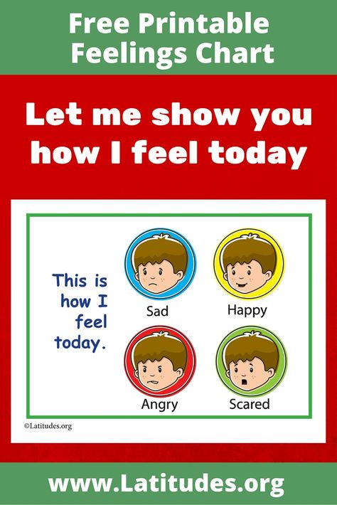 image relating to Feelings Chart Printable identify Very simple Emotions Chart Printable
