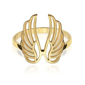 Zloty Pierscionek Pr 333 Wings Skrzydla Aniola 7519511468 Oficjalne Archiwum Allegro Gold Bracelet Jewelry Cuff Bracelets