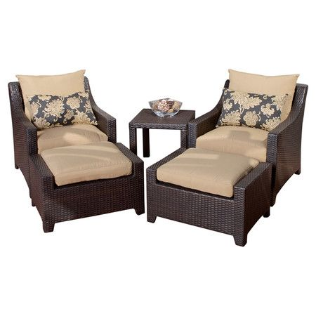 Eco Friendly Outdoor Seating Group With Cushion Covers Includes