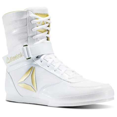 Pro Box Kids Boxing Boots Junior Boys Girls White Gold Training Sparring Shoes