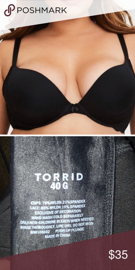 f02ce72fb2a Push Up Bra NWOT Comfortable lined black push up bra from Torrid. Never worn!  torrid Intimates   Sleepwear Bras
