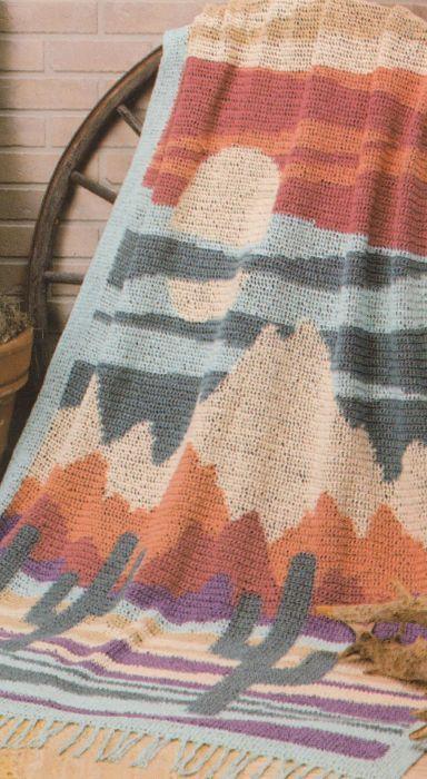Desert Scene Afghan Pattern | Crochet like crazy | Afghan crochet