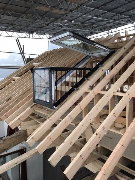What Are Velux Cabrio Windows Balcony Roof Windows Why Have One Roof Window Roof Terrace Design House Roof