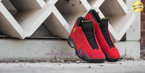 e33b2d1a7b6771 AIR JORDAN 14 RETRO Ferrari 654459-670 Red Black Mens-Womens Outlet Sale