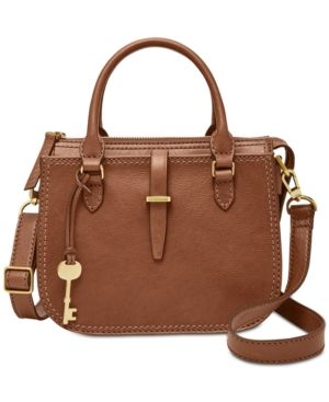 Reviews Handbags Leather Ryder Satchelamp; Fossil Mini TlJ3FuK1c
