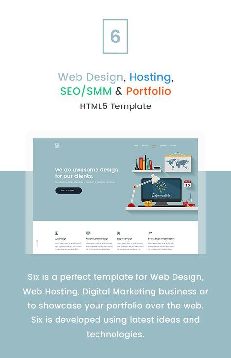 Six A 20web Design Hosting Seo Smm Portfolio Html5