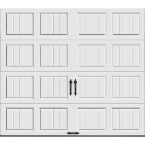 Clopay Gallery Collection 8 Ft X 7 Ft 6 5 R Value Insulated Solid White Garage Door Gr1sp Sw Sol The In 2020 White Garage Doors Garage Doors Garage Door Insulation