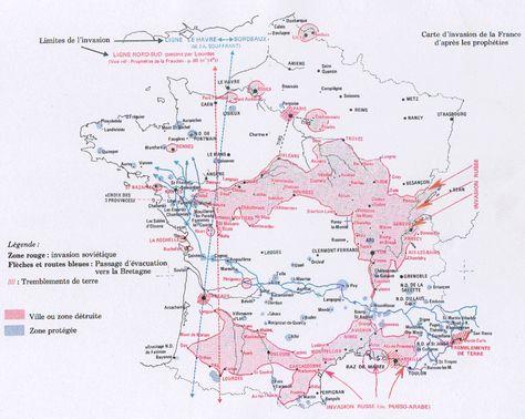 marie julie jahenny carte invasion Carte d'invasion de la France   .marie julie jahenny.fr   Marie