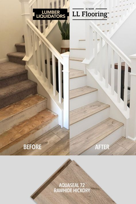 There's nothing easy about renovations, but when they go right, they're so worth it! Start your remodel with floors from LL flooring. Staircase Remodel, Home Upgrades, Basement Remodeling, Bathroom Remodeling, My New Room, Home Renovation, My Dream Home, Home Projects, Future House