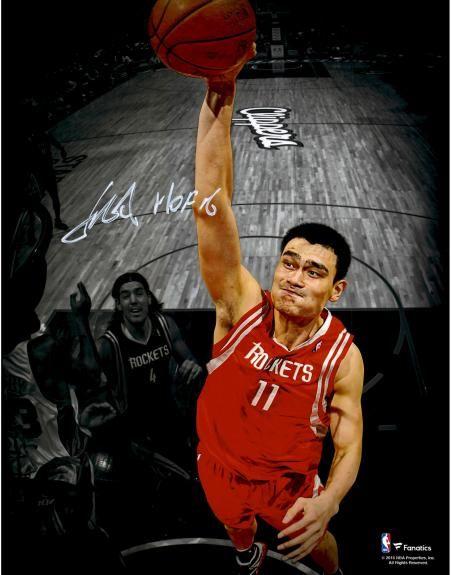 643987bde9476 Yao Ming Houston Rockets Autographed 11