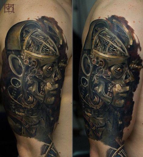30 Awesome Steampunk Tattoo Designs Cuded Steampunk Tattoo Steampunk Tattoo Design Tattoo Designs