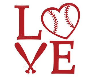 Softball love. Baseball svg heart files