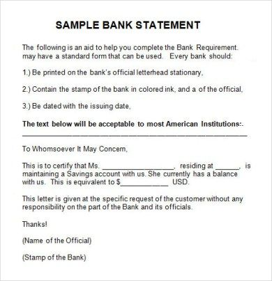 sample authorization letter request bank statement cover for - sample bank statement