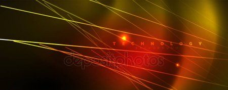 Shiny Color Neon Light With Lines Abstract Wallpaper Shiny