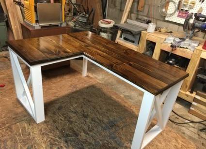Farmhouse Desk Corner 56 Ideas Diy Corner Desk Diy Desk Plans Homemade Desk