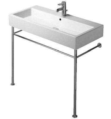 Duravit Vero Ceramic 40 Wall Mount Bathroom Sink With Overflow Bathroom Vanity Base Bathroom Console Console Sinks