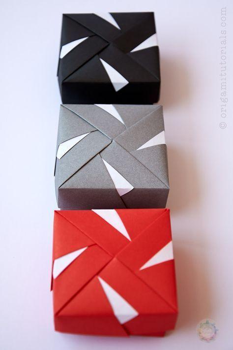 modular origami box tomoko fuse diy origami box, modular origami Helena Tomoko Fuse